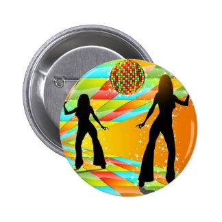 Baile del disco pin redondo de 2 pulgadas