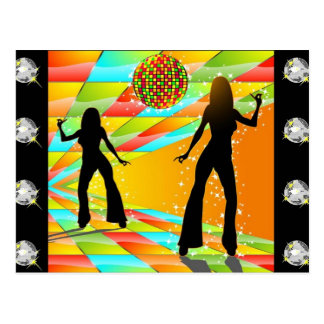 Baile del disco tarjeta postal