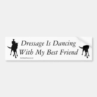 Baile del Dressage con mi caballo del mejor amigo Pegatina Para Auto