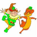Baile del Leprechaun con el ratón Escultura Fotográfica