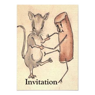 """Baile del ratón con la croqueta invitación 5"""" x 7"""""""