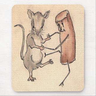 Baile del ratón con la croqueta tapetes de ratón