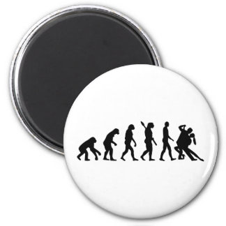 Baile del tango de la evolución imán redondo 5 cm