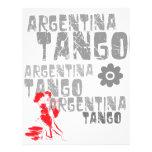Baile del tango flyer a todo color