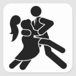 Baile del tango pegatina cuadradas
