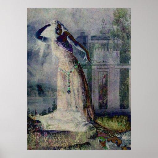 Baile del vampiro en Halloween Poster