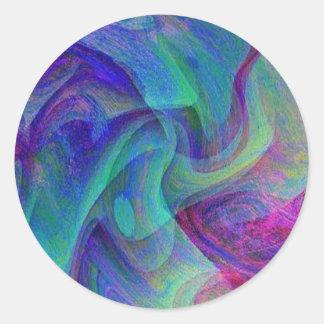 Baile del velo pegatina redonda