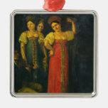 Baile del violinista y de tres mujeres ornaments para arbol de navidad