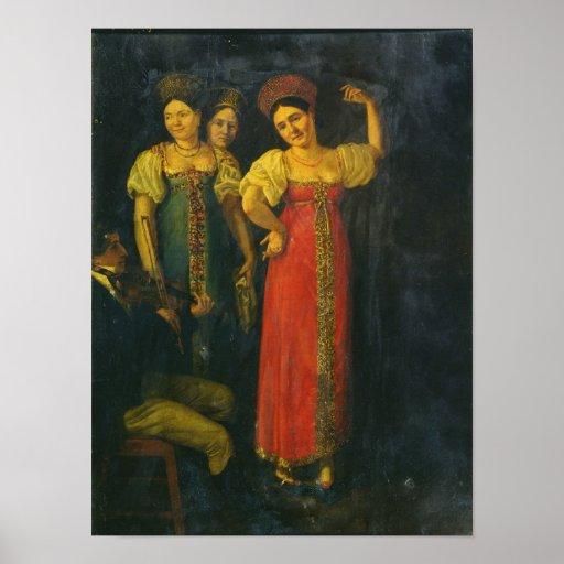 Baile del violinista y de tres mujeres poster