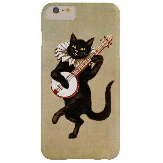 Baile divertido del gato del vintage y banjo el funda de iPhone 6 plus barely there