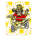 Baile divertido del mono tarjeta postal