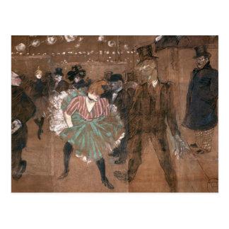 Baile en el colorete postal