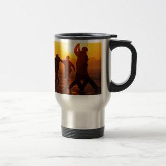 Baile en el hielo taza de café