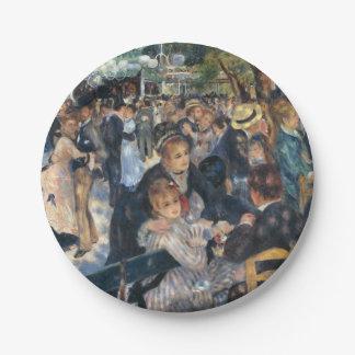 Baile en el la Galette de Le Moulin de Plato De Papel De 7 Pulgadas
