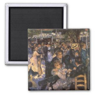 Baile en el la Galette de Le Moulin de por Renoir Imán Cuadrado