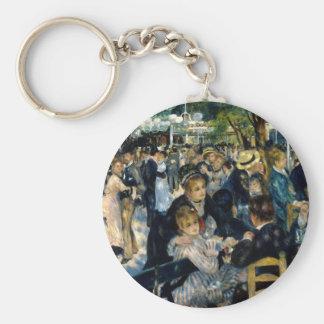 Baile en el la Galette de Le Moulin de por Renoir Llavero Redondo Tipo Pin