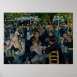 Baile en el la Galette de Le Moulin de por Renoir Poster