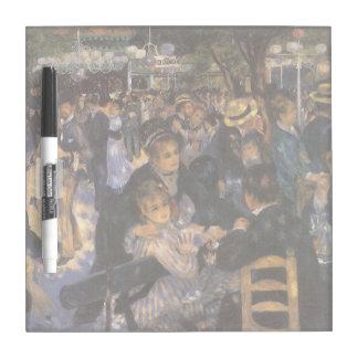 Baile en el la Galette de Le Moulin de por Renoir Tablero Blanco