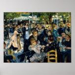 Baile en el la Galette de Le Moulin de por Renoir Póster