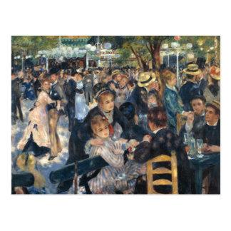 Baile en el la Galette de Le Moulin de por Renoir Postal