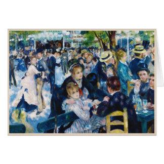 Baile en el Moulin de la Galette Auguste Renoir Tarjeta