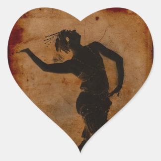 Baile en griego pegatina en forma de corazón