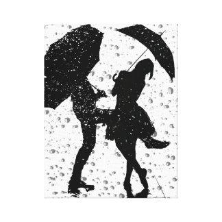 Baile en la lluvia lona estirada galerías