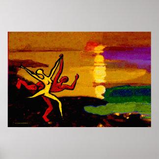 Baile en la puesta del sol (36 adentro. x 24 póster