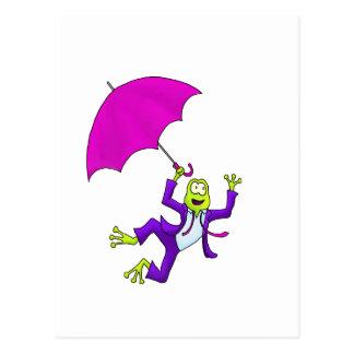 Baile en la rana de la lluvia postales