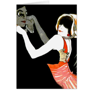 Baile en las sombras tarjeta de felicitación