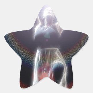 Baile en luz calcomanías forma de estrellas personalizadas