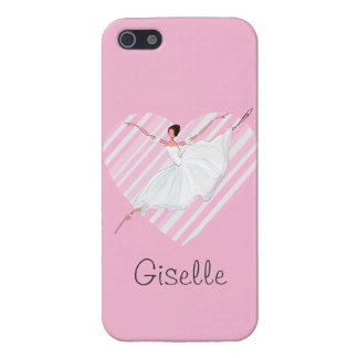 Baile en rayas rosadas - Castomizable de la iPhone 5 Funda