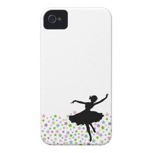 Baile entre las estrellas - blanco del bailarín de Case-Mate iPhone 4 cobertura