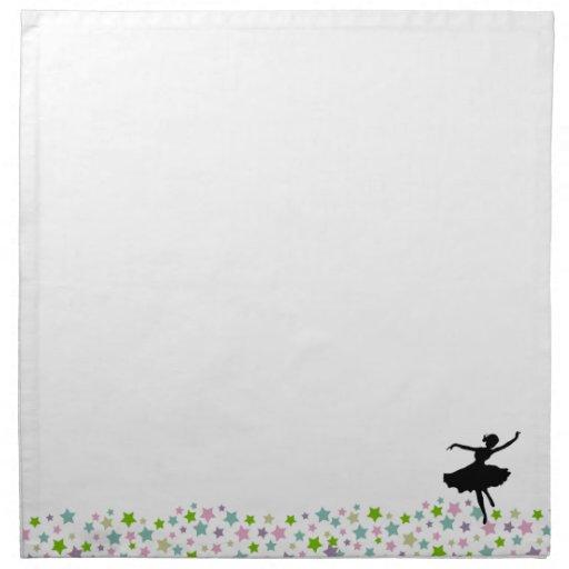 Baile entre las estrellas - blanco del bailarín de servilleta de papel