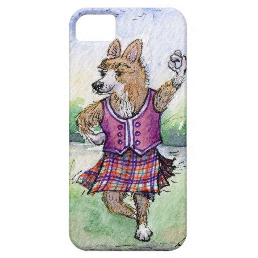 Baile escocés del perro del Corgi Galés iPhone 5 Carcasa