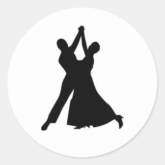 Baile estándar etiquetas redondas