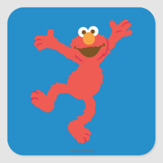 Baile feliz de Elmo Pegatina Cuadrada