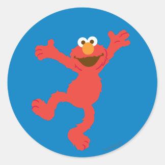 Baile feliz de Elmo Pegatina Redonda