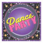 ¡Baile! Invitación de neón de la celebración