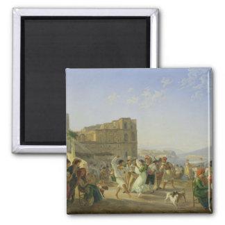 Baile italiano, Nápoles, 1836 Imán Cuadrado