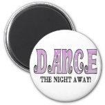 Baile la noche ausente imán de nevera