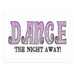 Baile la noche ausente tarjeta postal