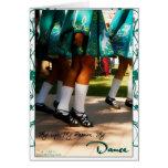 Baile la tarjeta del día del St Pat de la plantill