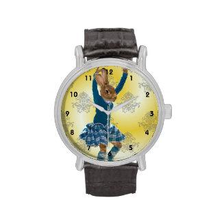 Baile lindo del conejo relojes