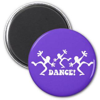 Baile loco de los bailarines imán redondo 5 cm