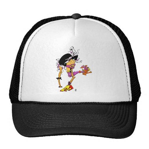 Baile loco del pájaro con los zapatos del tango gorras