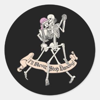 Baile para siempre pegatina redonda