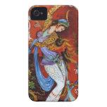 Baile persa de la mujer con el pájaro y el vino iPhone 4 Case-Mate funda