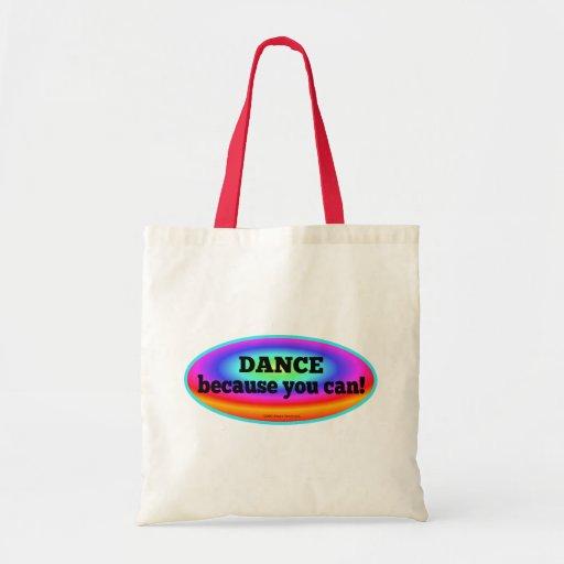 Baile porque usted puede la bolsa de asas colorida