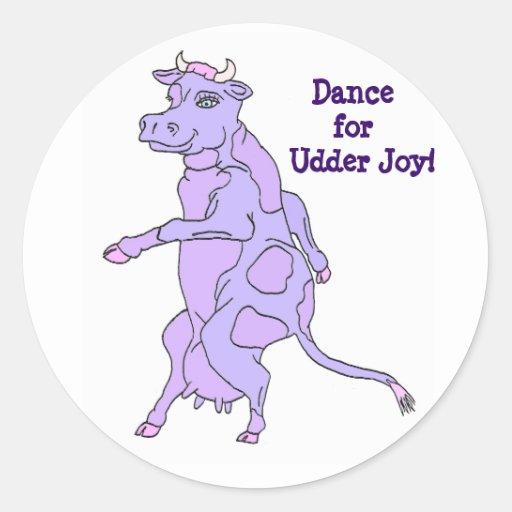 Baile púrpura de la vaca para el pegatina de la